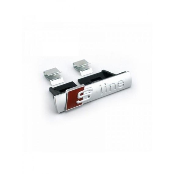 Emblema logo sigla Audi S-line crom 3D pentru grila fata Sline s line fata