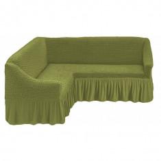 Husa pentru canapea tip Coltar culoare Verde