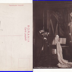 Casa Regala - Regina Elisabeta- Carmen Sylva cu George Enescu,  rara