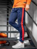 Cumpara ieftin Pantaloni de trening bărbați bleumarin-rosu Bolf JZ11007