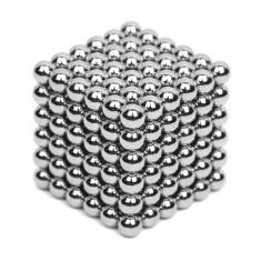 Neocube 216 bile magnetice 5mm, joc puzzle, culoare argintie