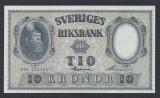 A5155 Sweden Suedia 10 kronor 1958 SEMNATURI DIFERITE aUNC