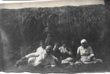 Fotografie militar roman tarani poza veche interbelica