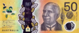AUSTRALIA █ bancnota █ 50 Dollars █ 2018 █ UNC █ necirculata █ polymer