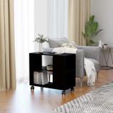 Masă laterală, negru, 70 x 35 x 55 cm, PAL, vidaXL
