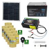 Gard electric cu Panou solar 3,1J putere cu 10.000m Fir 160Kg cu acumulator 12Ah