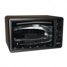 Cuptor electric Asel, 1300 W, 40 l, 320 grade, timer, termostat, Negru