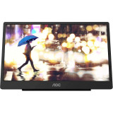 Monitor LED AOC Portabil 16T2 Touchscreen 15.6 inch 4 ms Negru 60 Hz