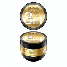 Masca de par, Eveline Cosmetics, 8 in 1 Hair Clinic oleo expert pentru crestere rapida, 300 ml