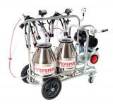 Aparat de muls vaci VEPEMIR 2 posturi si 2 bidoane Inox 20 litri, VPM22S20