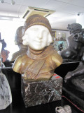 STATUETA BRONZ SI MARMURA VECHE CCA 1920