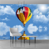 Fototapet balon aer 300 x 262 cm - Tapet premium cu adeziv