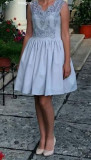 Rochie elegantă, Gri, 36
