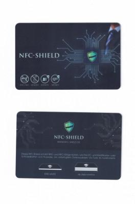 Card protectie NFC Shield pt carduri bancare de credit impotriva furt de date foto