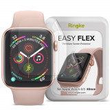 Folie protectie transparenta TPU Case friendly Ringke Easy Flex Apple Watch 4/5/6/SE (40mm) 3-Pack
