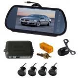 Cumpara ieftin Senzori parcare cu camera video si display LCD de 7 in oglinda A8000