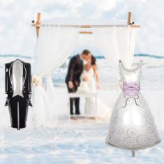Balon folie Mireasa, 70x45, multicolor, figurina Mrs decor nunta