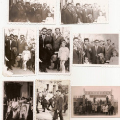 lot 25 fotografii tematica propaganda comunista manifestatie Romania