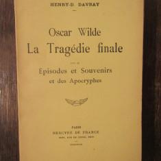 OSCAR WILDE LA TRAGEDIE FINALE-HENRY DAVRAY