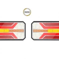 Set Lampi stop camion LED cu semnalizare dinamica SL-5005 12-24V