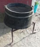 Caldare/ceaun 20 litri din cupru cu suport