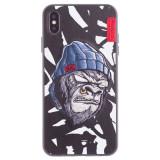 Cumpara ieftin Husa Hard iPhone XS Max Gorilla Saru Skinarma Alba