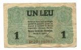 Ocupatia germana in Romania 1 leu 1917 FINE