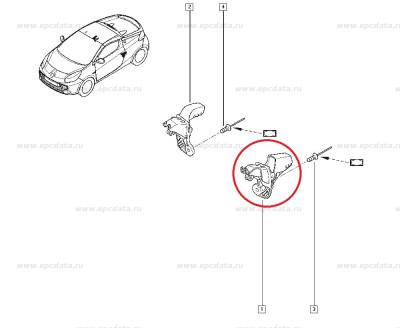 Nit metalic fixare panou, gura umplere rezervor, Renault Master 3, Renault 21, Renault Wind, Original Renault 7703072251 Kft Auto foto