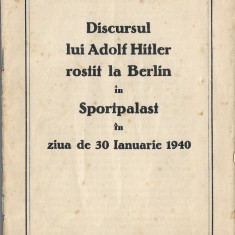 Brosura propaganda nazista Adolf Hitler 1940