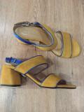LICHIDARE STOC! Superbe sandale dama noi piele intoarsa naturala comode 37