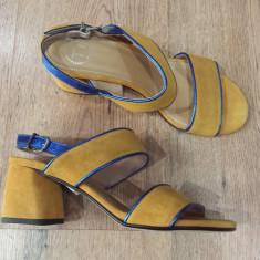 LICHIDARE STOC ! Superbe sandale dama noi piele intoarsa naturala comode 37