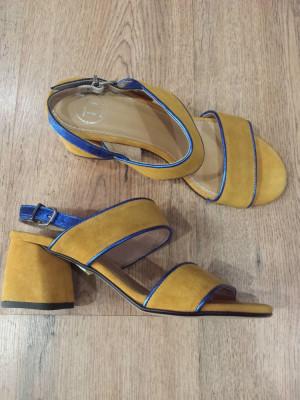 LICHIDARE STOC! Superbe sandale dama noi piele intoarsa naturala comode 37 foto