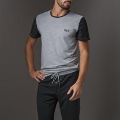 Pijama barbateasca LISCA Thor Dark Grey Short