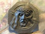 Arta / Decor / Design - Veche sculptura deosebita in lemn / capul lui Isus !