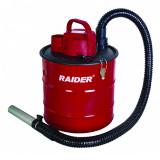 Aspirator uscat pentru cenusa Raider, 1000 W ,18 l, 1488 l/min, 15.5 kPa, Rosu