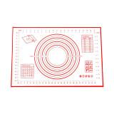 Cumpara ieftin Covoras antiderapant pentru facut aluat, fabricat din silicon, 40x60 cm, Rosu/Alb