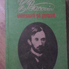 VERSURI SI PROZA - GEORGE BACOVIA