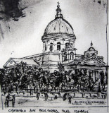 Alexandru Ursu-Bukowina - Catedrala din Bolgrad, județul Ismail, interbelic