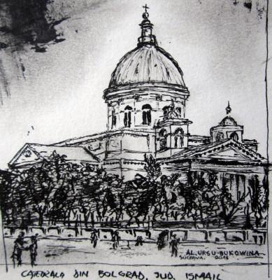 Alexandru Ursu-Bukowina - Catedrala din Bolgrad, județul Ismail, interbelic foto