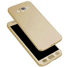 Husa FullBody Elegance Luxury Gold pentru Samsung Galaxy J7 2016 acoperire...