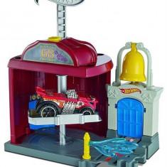 Set De Jucarii Hot Wheels City Downtown Fire Station Spinout Play Set