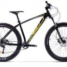 Bicicleta Pegas Drumuri Grele Pro L, Cadru 18inch, Roti 27.5inch, 10 Viteze (Negru/Galben)