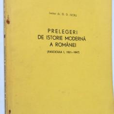 Prelegeri de istorie moderna a Romaniei fascicula I 1821-1847