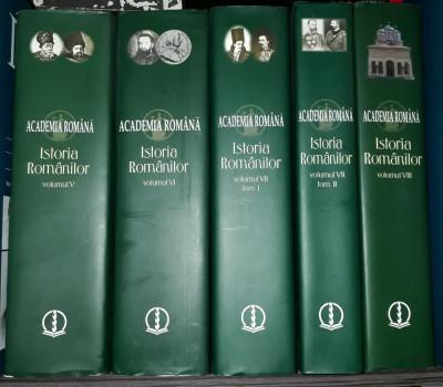 Istoria românilor - Academia Română (vol. 5, 6, 7.1, 7.2, 8 - cinci volume) foto