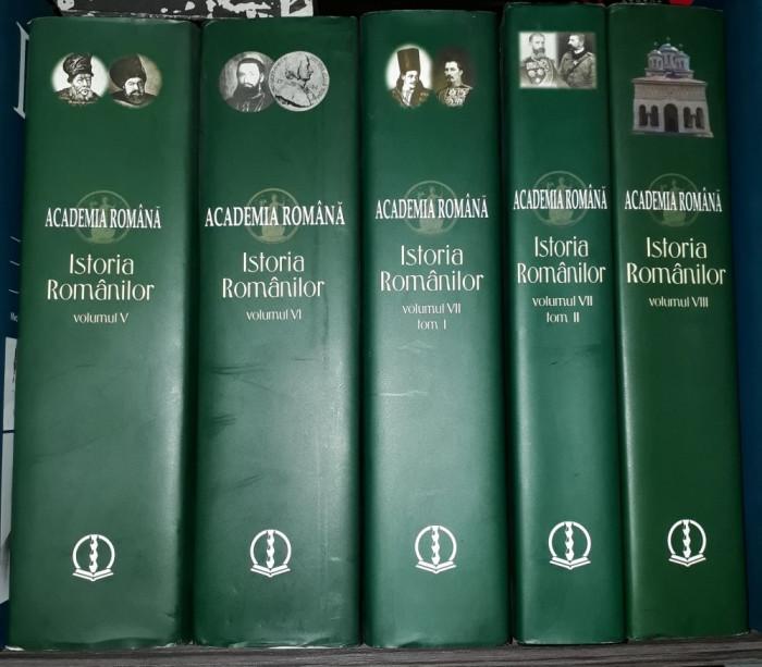 Istoria românilor - Academia Română (vol. 5, 6, 7.1, 7.2, 8 - cinci volume)