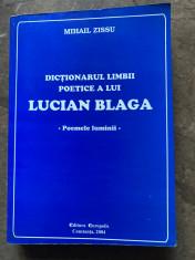 Dicționarul limbii poetice a lui Blaga foto