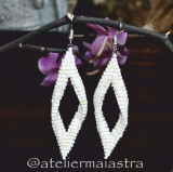 Cumpara ieftin cercei lungi albi, cercei mireasa, cercei perle, bijuterii femei, cadou handmade