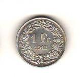 SV * Elvetia 1 FRANC 1912 B * ARGINT .835 AUNC +, Europa