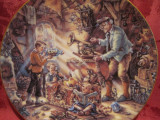 TABLOU / FARFURIE DECORATIVA PORTELAN WEIMAR BRADEX EDITIE LIMITATA - BUNICII