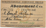 Abonament tramvai Braila 1943
